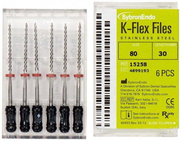 K-Flex Files - Packung 6 Feilen 30 mm ISO 080 von SybronEndo
