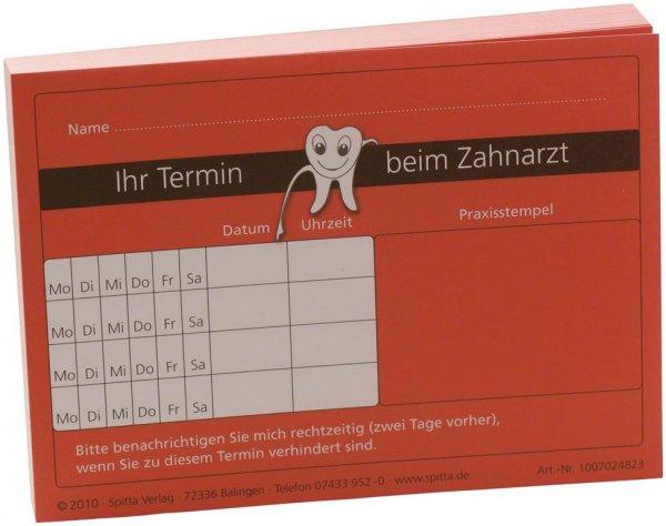 """Terminzettel """"Ihr Termin beim Zahnarzt"""" - Block 100 Blatt von Spitta Verlag"""