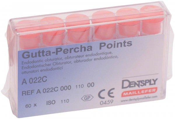 Guttapercha-Spitzen rosa - Packung 60 Stück rosa, Taper.02 ISO 110 von Dentsply Sirona