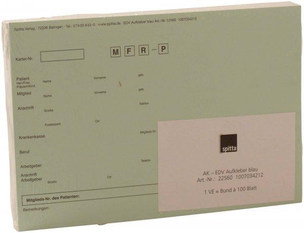 Adressaufkleber DIN A5 - Packung 100 Aufkleber blau von Spitta Verlag