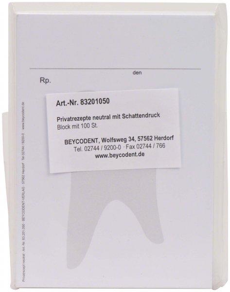Privatrezepte - Block 100 Rezepte von Beycodent