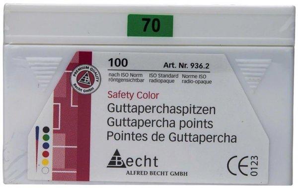 Guttaperchaspitzen Safety Color - Packung 100 Stück ISO 070 von Becht