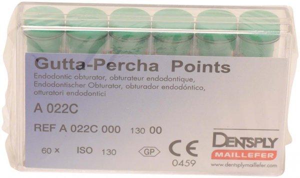 Guttapercha-Spitzen rosa - Packung 60 Stück rosa, Taper.02 ISO 130 von Dentsply Sirona