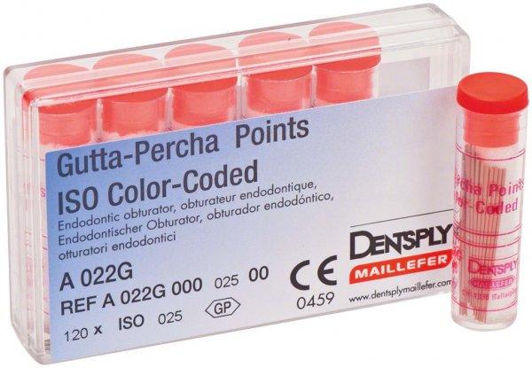 Gutta-Percha Spitzen - Packung 120 Stück Taper.02 ISO 025 von Dentsply Sirona