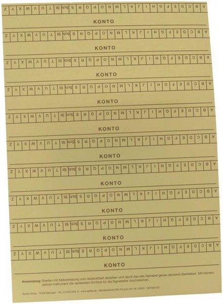 Alphabetleisten DIN A5 - Packung 10 Leisten grün von Spitta Verlag