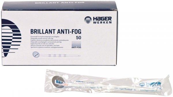 BRILLANT Anti-Fog - Packung 50 Mundspiegel weiß von Hager & Werken