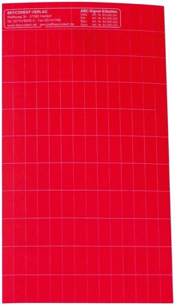 ABC-Signaletiketten - Packung 1000 Etiketten rot von Beycodent