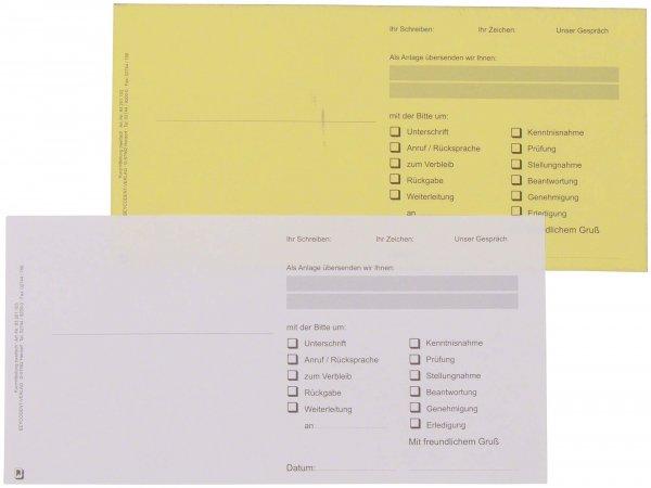 Kurzmitteilung DL - Packung 100 Blatt 21 cm x 10,5 cm, 2-fach von Beycodent