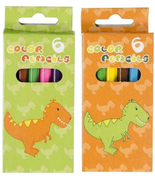 Buntstifte Dino - Packung 24 x 6 Stifte von MirusMix