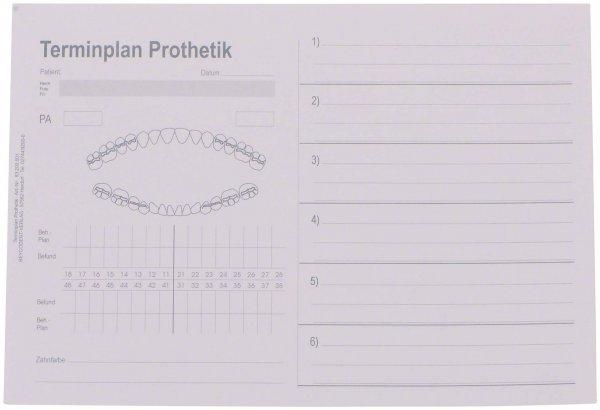 Terminplan Prothetik - Packung 100 Zettel von Beycodent