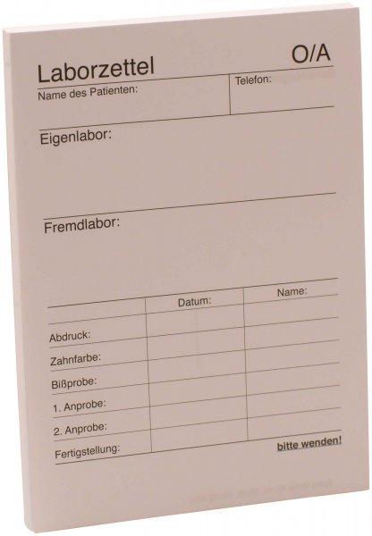 Labor-Zettel - Block 100 Blatt von Spitta Verlag