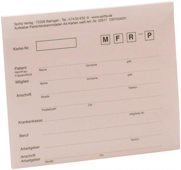 Adressaufkleber DIN A4 - Block 50 Aufkleber weiß von Spitta Verlag