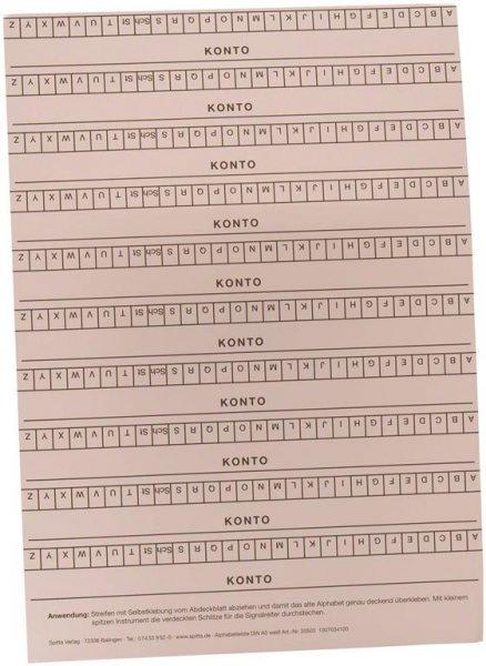 Alphabetleisten DIN A5 - Packung 10 Leisten weiß von Spitta Verlag