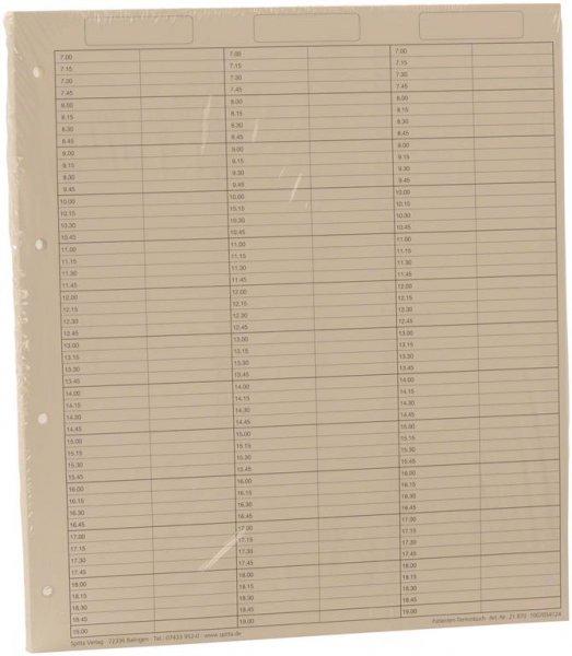 Einlageblätter 6-spaltig durchgehend - Packung 50 Blatt reißfestes Papier von Spitta Verlag