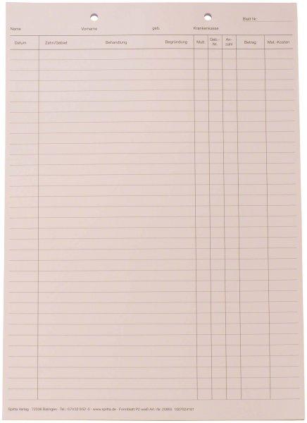 Krankenblatt P2 - Block 100 Blatt von Spitta Verlag